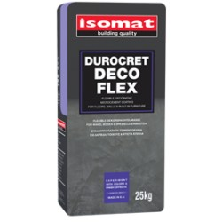 DUROCRET-DECO FLEX  mortar de modelaj flexibil, pe bază de ciment, pentru pardoseli și pereți