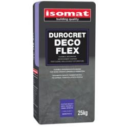 Isomat DUROCRET-Deco Flex light grey25Kg  mortar de modelaj flexibil, decorativ, pentru acoperire pardoseli și pereți