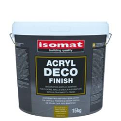 Isomat ACRYL Deco Finish alb 5Kg acoperire acrilica decorativa pentru pardoseli si pereti, cu finisaj ultra-neted
