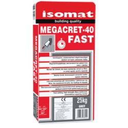 Isomat MEGACRET-40 Fast gri 25Kg mortar de ciment armat cu fibre, cu priza rapida, cu rezistente mari, pentru reparatii