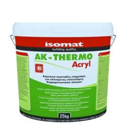 Isomat AK-Thermo Acryl alb 25Kg tencuială acrilica, armata cu fibre pentru placi termoizolante