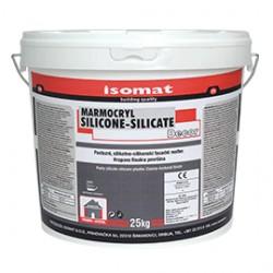 MARMOCRYL SILICONE-SILICATE Fine  tencuială pastă, pe bază de sticlă solubilă şi silicon ( suprafaţă netedă ) 1mm alb 25Kg